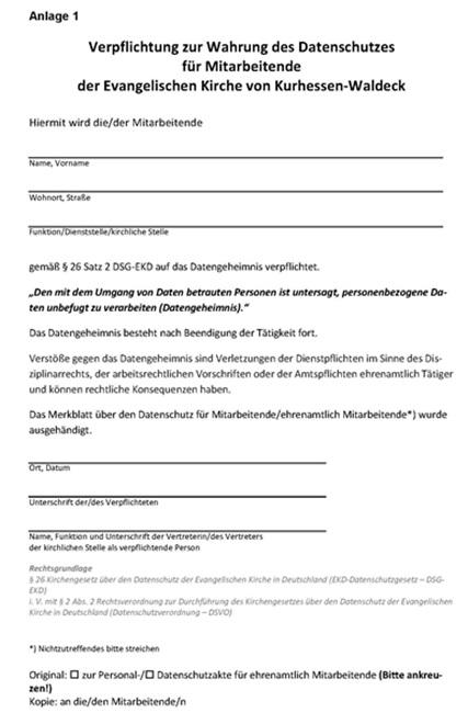 711 Datenschutzverordnung (DSV-O) - Kirchenrecht Online-Nachschlagewerk